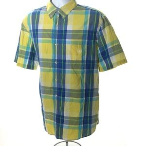 """CHAPS """"Easy Care"""" Plaid Short Sleeve"""
